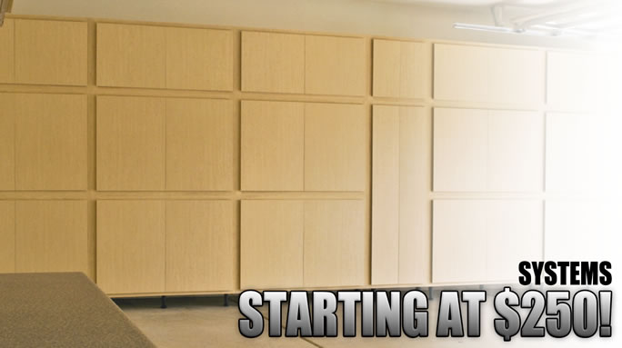 Classic Series plywood garage storage cabinet systems